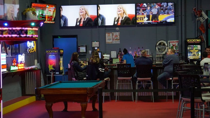 sport bar entertainment center